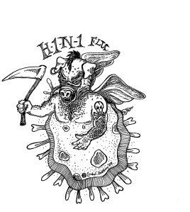 H1N1 Swine Flu Virus Magnified