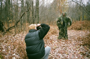 Mike Agrusa in Ghillie Suit copyright Linda Godfrey