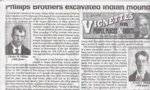 Page from the Delavan Enterprise showing historian Yadon's column