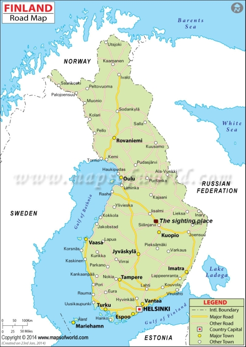 finlandsightingmap